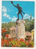 Bnk cp Slatina - Statuia E Teodoroiu - necirculata - marca fixa, Printata