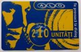 ROMANIA CARTELA ALO GSM 210 UNITATI - PENTRU COLECTIONARI **