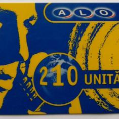 ROMANIA CARTELA ALO GSM 210 UNITATI - PENTRU COLECTIONARI ** - Cartela GSM