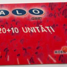 ROMANIA CARTELA ALO GSM 120 +10 UNITATI - PENTRU COLECTIONARI ** - Cartela GSM