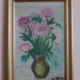 Tablou semnat de Lucreţia Megyesi, Flori, Ulei, Realism