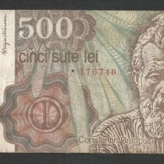 ROMANIA 500 LEI 1991 - APRILIE [1] P-98b - Bancnota romaneasca