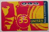 ROMANIA CARTELA ALO 35 UNITATI - PENTRU COLECTIONARI **
