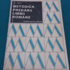 METODICA PREDĂRII LIMBII ROMÂNE*CITIT-SCRIS, CITIRE/ ION BERCA/ 1971