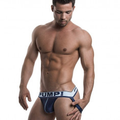 PUMP! Blue Steel Jock - Jockstrap / Suspensori / Lenjerie bărbați mărimea L, Marime: L, Culoare: Din imagine