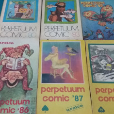 LOT 6 ALMANAHURI URZICA PERPETUUM COMIC/1988, 1987, 1986, 1985, 1983, 1980