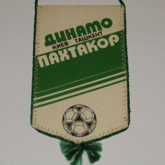 Fanion fotbal DINAMO KIEV- PAKHTAKOR TASHKENT (meci din campionatul URSS 1984)