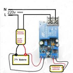 REGULATOR de incarcare ptr. REDRESOR sau INCARCATOR de baterie de masina de 24V
