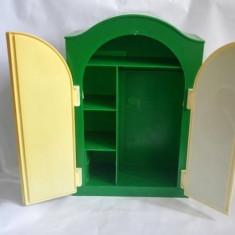 Dulap jucarie mobilier pentru pausi, plastic, vintage, 31x20x8.5cm, decor