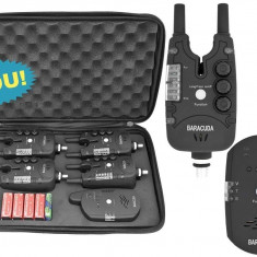 Set 4 Avertizori Senzori cu Statie Baracuda TLI-28 Snag Bar TLI28 New 2018 - Avertizor pescuit