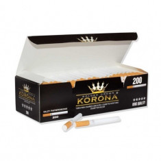 Tuburi tigari KORONA - 200 buc. la cutie pentru injectat tutun - Foite tigari
