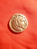Tetradrahma - Copie din metal- Alexandru cel Mare , revers Zeus , D= 2,8 cm