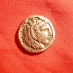 Tetradrahma - Copie din metal- Alexandru cel Mare, revers Zeus, D= 2, 8 cm - Moneda Antica
