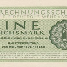 Germania 1 Reichsmark ND 1944 Wehrmacht P.M38 UNC - bancnota europa, An: 1942