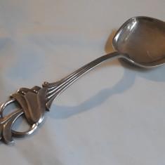 LINGURA MARE argint TOPORAS in Coada NORVEGIA 1876 splendida IMPECABILA superba, Tacamuri