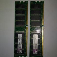 Memorie Ram 2 x 1 Gb DDR1 / PC-3200U / 400 Mhz Kingston KVR400X6C3A (26B), 2 GB, Dual channel