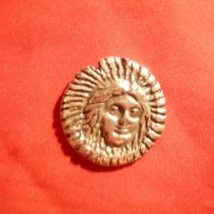 Tetradrahma - Copie din metal- Rhodos, revers Soarele, D= 2, 8 cm - Moneda Antica