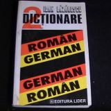 DICTIONAR GERMAN ROMAN-ROMAN-GERMAN=-ED-