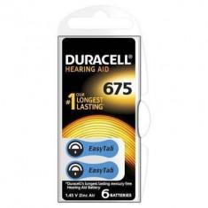 Baterie pentru aparat auditiv Duracell ZA 675 6buc 1.4V Argintiu