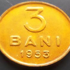 Moneda 3 Bani - ROMANIA, anul 1953 *cod 966 ---UNC! - Moneda Romania