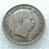 100 LEI 1932-ARGINT-LONDRA-CAROL II REGE
