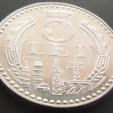 Moneda 5 Lei - RS ROMANIA, anul 1978 *cod 315 - UNC DIN FASIC - Moneda Romania, Aluminiu
