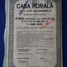 Actiuni Casa Rurala - 500 lei - 1930