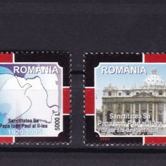 ROMANIA 2005 LP 1680 PAPA IN MEMORIAM SERIE MNH - Timbre Romania, Nestampilat