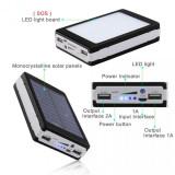 Incarcator Solar Universal 20000 mAh cu Lanterna 20 Led-uri - Baterie externa