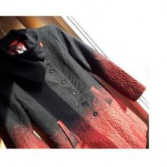 Palton DESIGUAL nr.M original stare de nou - Palton dama Tommy Hilfiger, Marime: M, Culoare: Negru, Bumbac