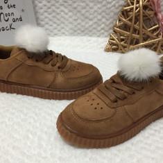Tenisi maro cu puf pantofi sport adidasi papuci copii fete 30 34