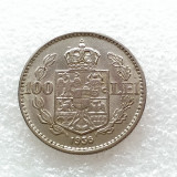 100 LEI 1936-NICHEL-CAROL II REGE