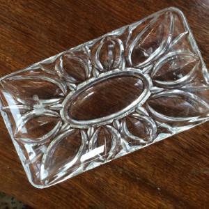 Plato din cristal de Boemia