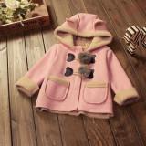 Haina/cojoc jacheta blanita roz cu gluga/ fetite 1-2 ani, Alta, Din imagine