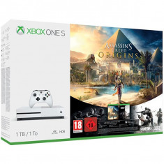 Consola Microsoft Xbox One S 1Tb Alb + Assassin S Creed Origins + Tom Clancy'S Rainbow Six Siege (Download Codes) - Consola Xbox