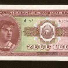 ROMANIA - 10 LEI 1952, PERFECT UNC . RARA IN ACEASTA STARE . NECIRCULATA - Bancnota romaneasca