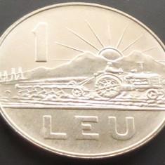 Moneda 1 LEU - RS ROMANIA, anul 1966 *cod 4729 ---- UNC! - Moneda Romania