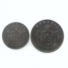 5 BANI 1867+10 BANI 1867-CUPRU -CAROL I DOMN - Moneda Romania