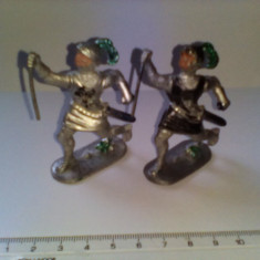 bnk jc Lot 2 figurine de plastic - soldati medievali - Germania