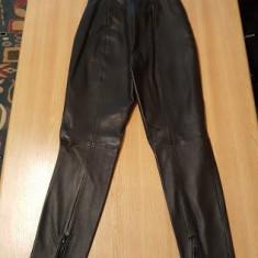 Pantaloni piele Mango nepurtati - Pantaloni dama, Marime: 36, Culoare: Negru