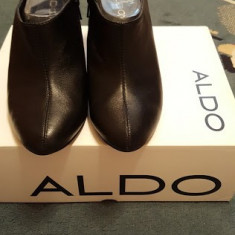 Botine Aldo piele naturala, noi, purtate o singura data - Botine dama Aldo, Culoare: Negru, Marime: 39
