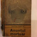 Agatha Christie, Anuntul mortuar