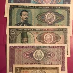Lot 5 bancnote 1966 - Bancnota romaneasca