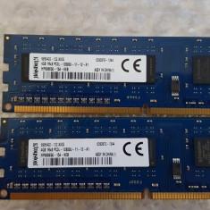 Kit 8 GB( 2 x 4 Gb ) KINGSTON DDR 3 PC3-12600 1600 MHz, Memorie PC Desktop - Memorie RAM
