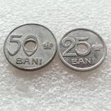 25 BANI 1921+50 BANI 1921-ALUMINIU - Moneda Romania