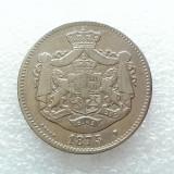 2 LEI 1875-ARGINT-CAROL I REGE - Moneda Romania