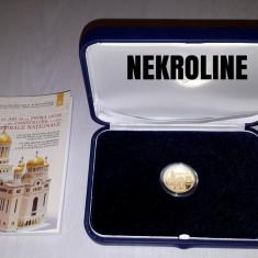 MONEDA AUR - 200 LEI 2014 - PRIMA LEGE DE CONSTRUIRE A CATEDRALEI NATIONALE - Moneda Romania