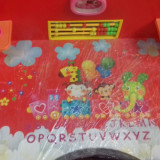 Birou Educativ pentru fetite culore Rosie - Masuta/scaun copii
