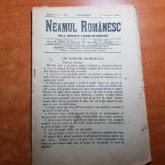 """neamul romanesc 7 octombrie 1911-art. """" un raspuns romanului"""" de nicolae iorga"""