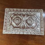 Platou cristal de Boemia vintage anii 1970